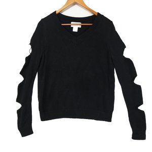Ruby Moon Anthropologie Black Distressed Sweater